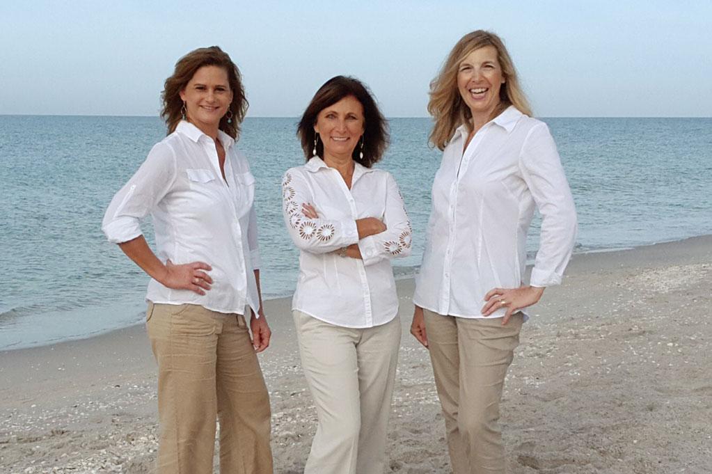 three women standing at Englewood Beach