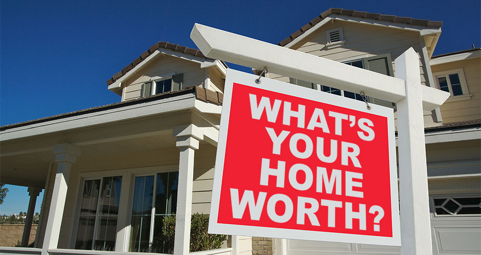What's Your Home Worth? - sign in front of house